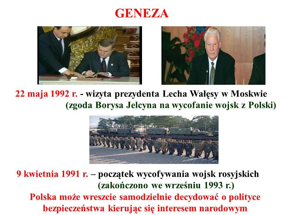 GENEZA 22 maja 1992 r. - wizyta prezydenta Lecha Wałęsy w Moskwie