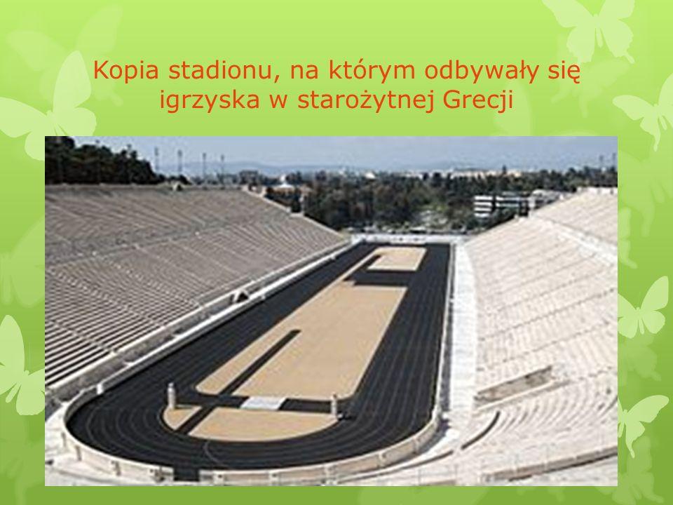 Kopia stadionu, na którym odbywały się igrzyska w starożytnej Grecji