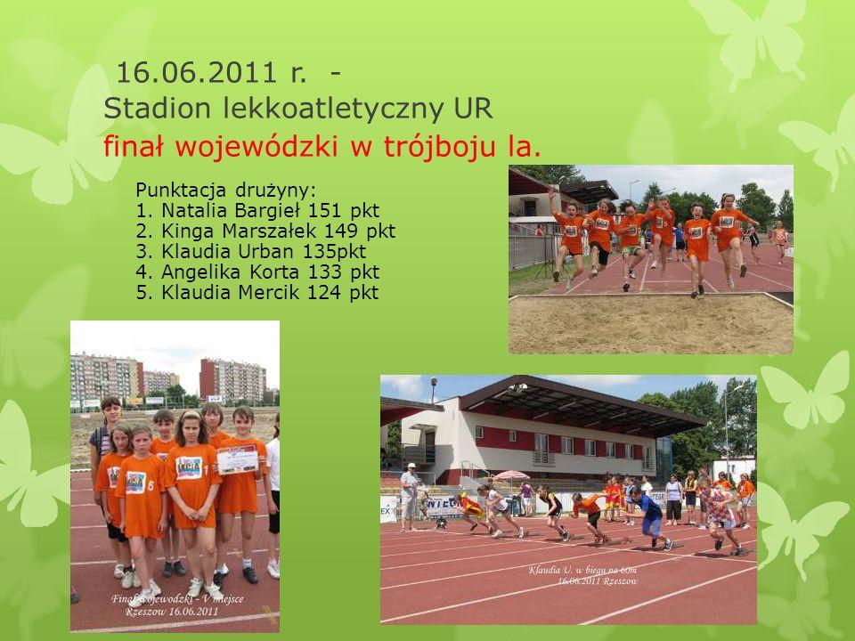 16.06.2011 r. - Stadion lekkoatletyczny UR finał wojewódzki w trójboju la.