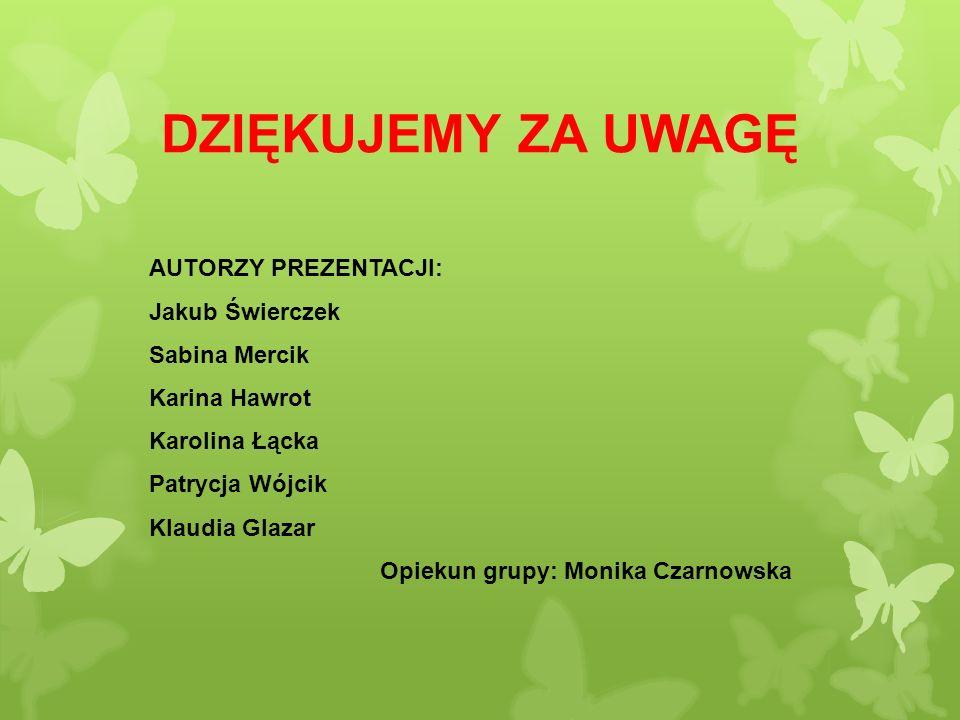 Opiekun grupy: Monika Czarnowska