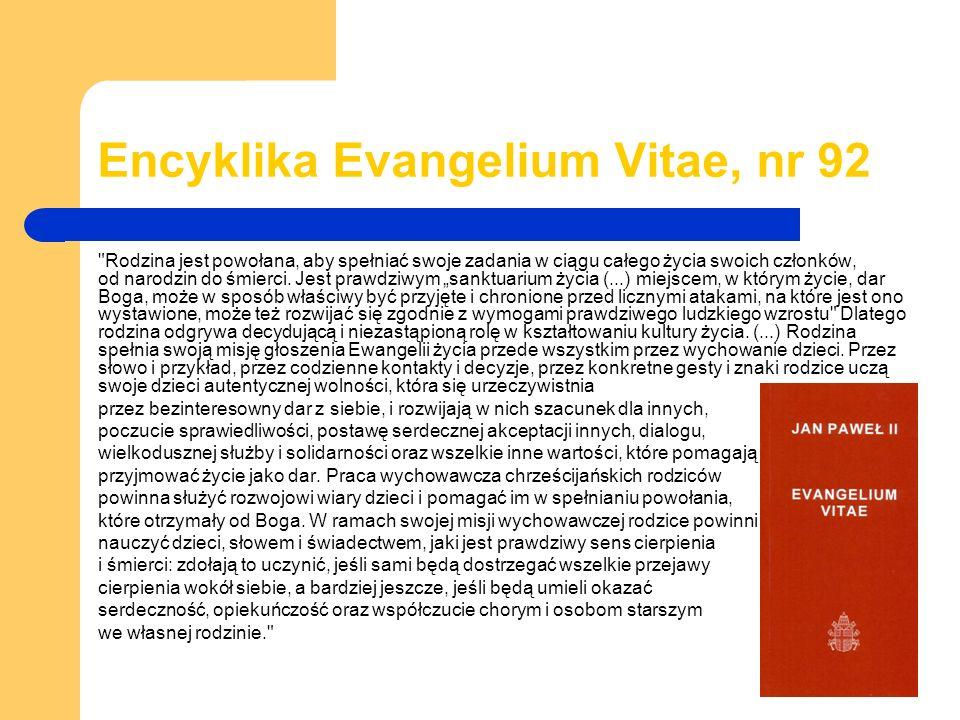 Encyklika Evangelium Vitae, nr 92