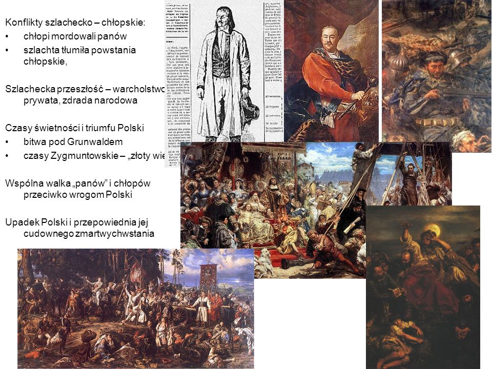 Historia Konflikty szlachecko – chłopskie: chłopi mordowali panów