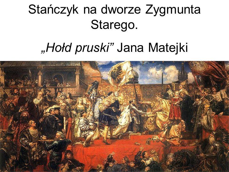 """Stańczyk na dworze Zygmunta Starego. """"Hołd pruski Jana Matejki"""