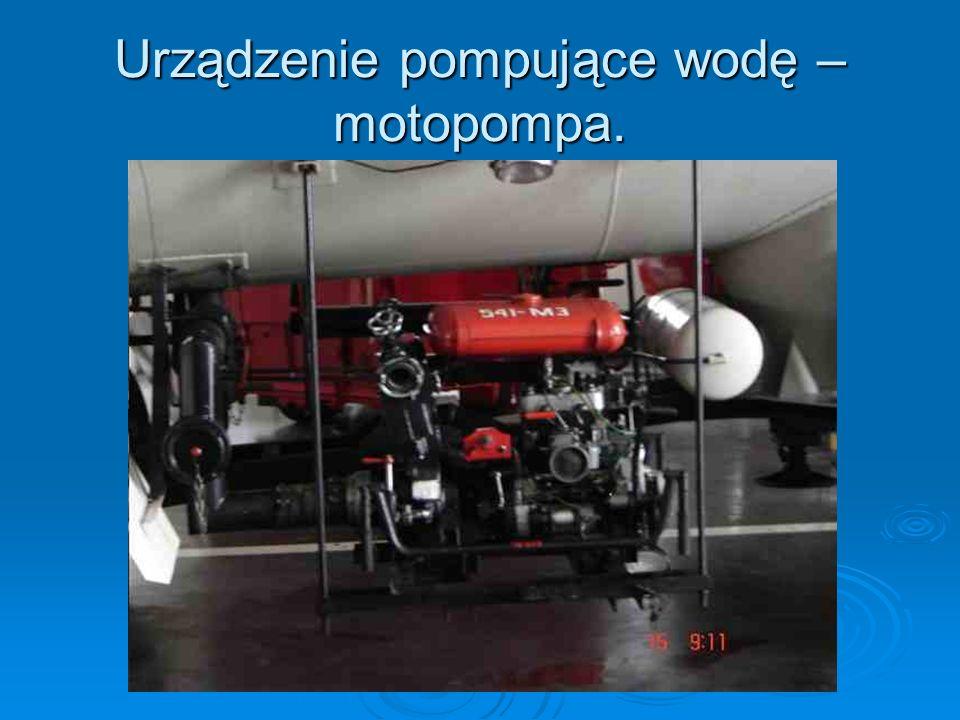 Urządzenie pompujące wodę –motopompa.