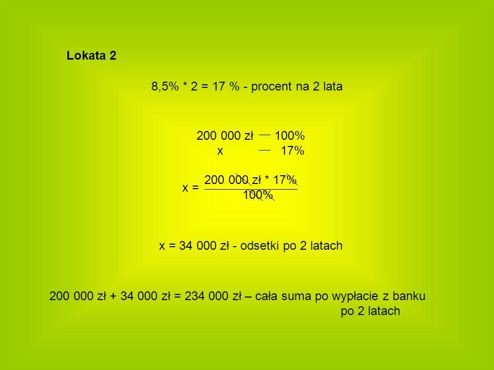 x = 34 000 zł - odsetki po 2 latach