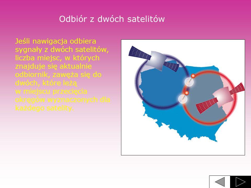 Odbiór z dwóch satelitów
