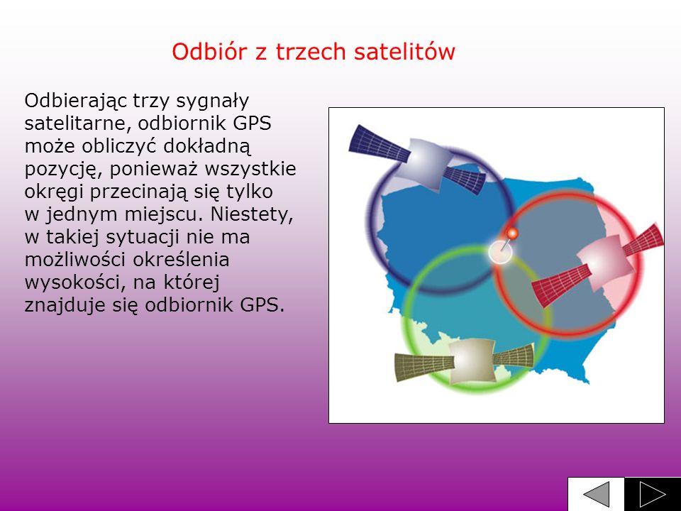 Odbiór z trzech satelitów