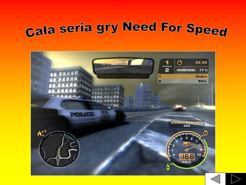 Cała seria gry Need For Speed