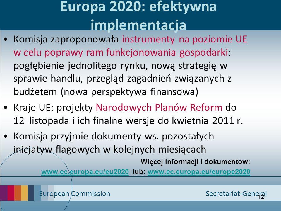 Europa 2020: efektywna implementacja