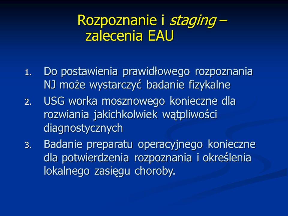 Rozpoznanie i staging – zalecenia EAU
