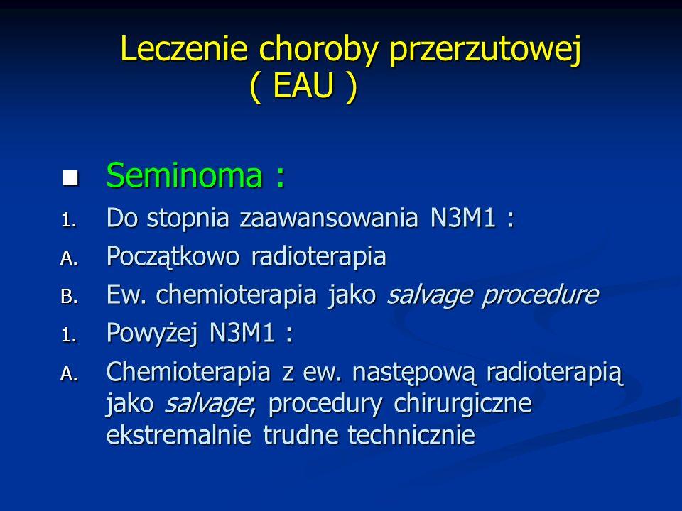 Leczenie choroby przerzutowej ( EAU )