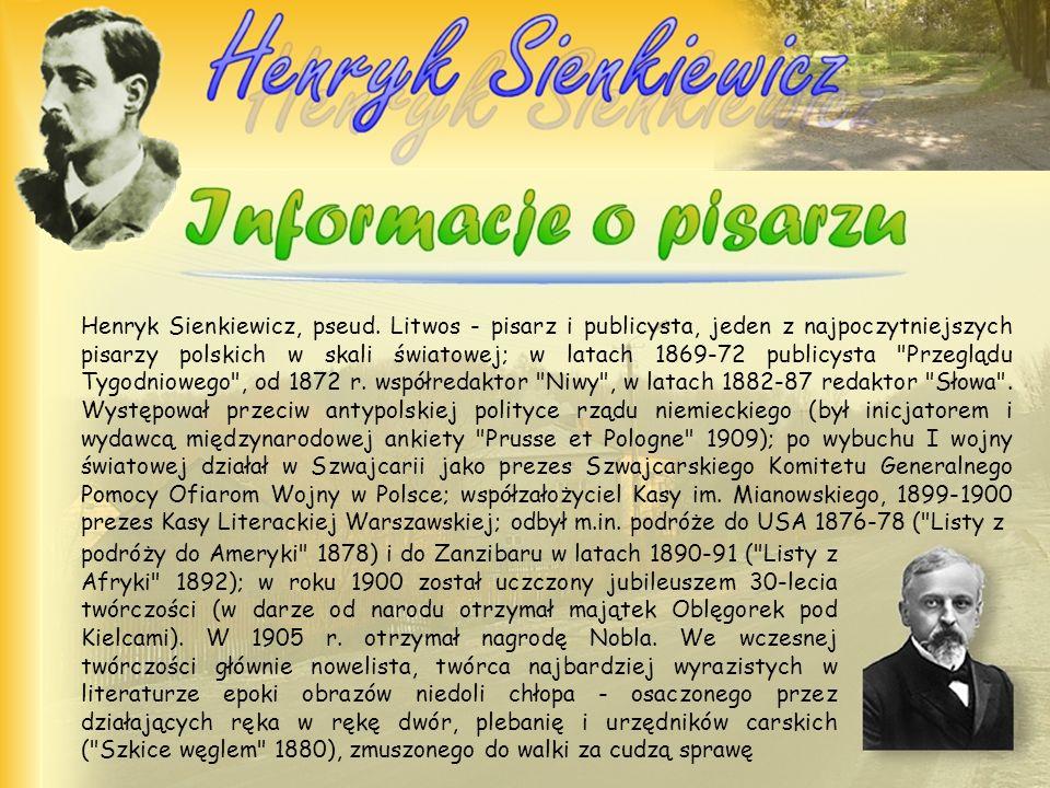 Henryk Sienkiewicz, pseud
