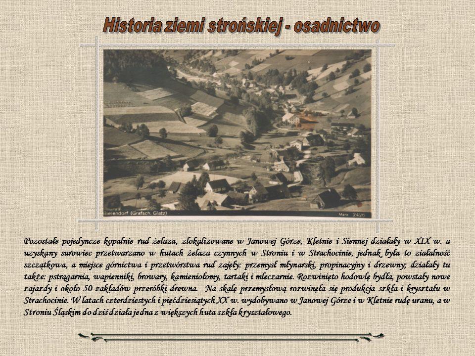 Historia ziemi strońskiej - osadnictwo