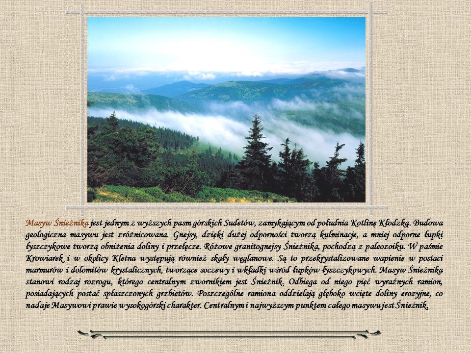 Masyw Śnieżnika jest jednym z wyższych pasm górskich Sudetów, zamykającym od południa Kotlinę Kłodzką.