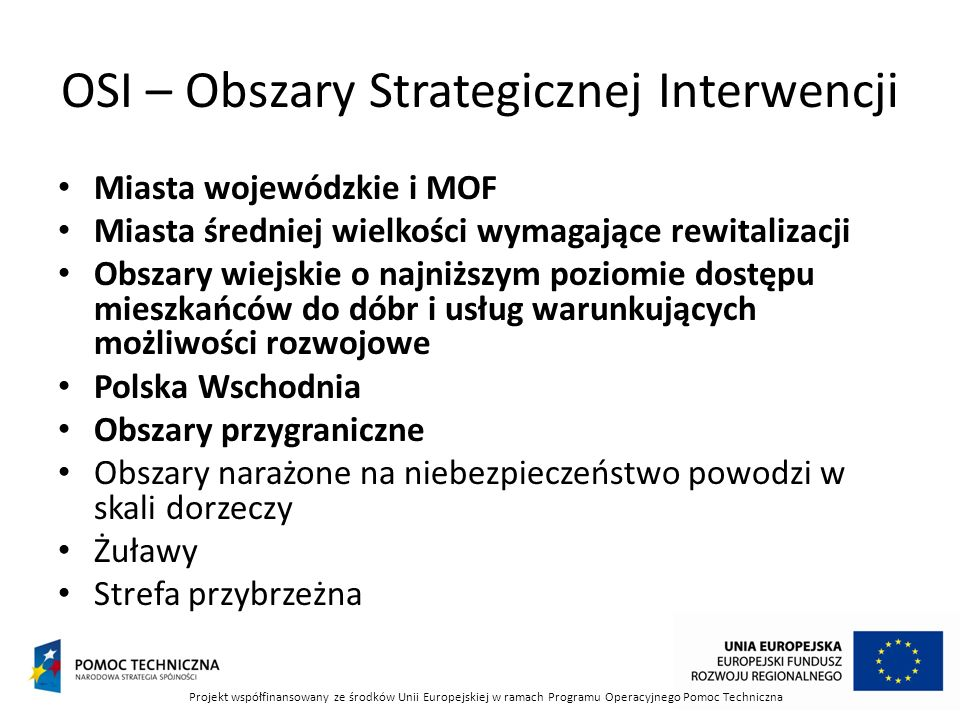 OSI – Obszary Strategicznej Interwencji
