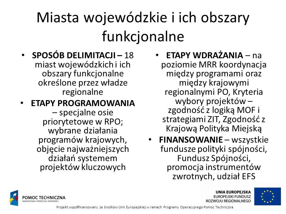 Miasta wojewódzkie i ich obszary funkcjonalne