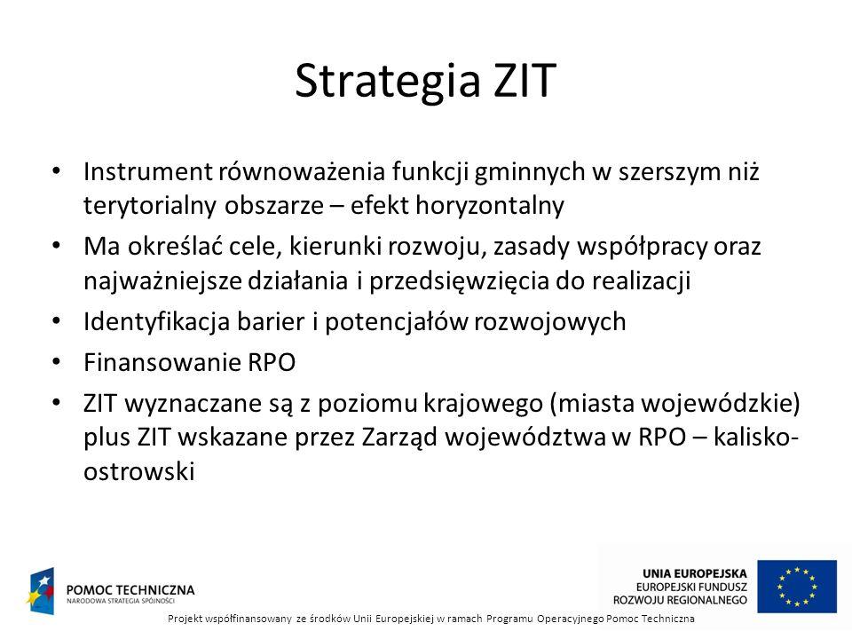 Strategia ZIT Instrument równoważenia funkcji gminnych w szerszym niż terytorialny obszarze – efekt horyzontalny.