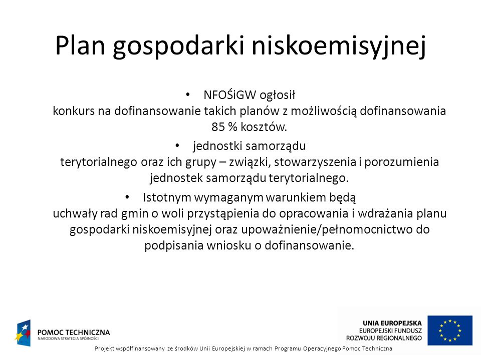 Plan gospodarki niskoemisyjnej