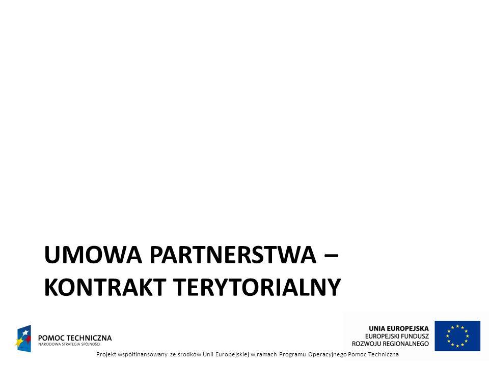 Umowa partnerstwa – kontrakt terytorialny