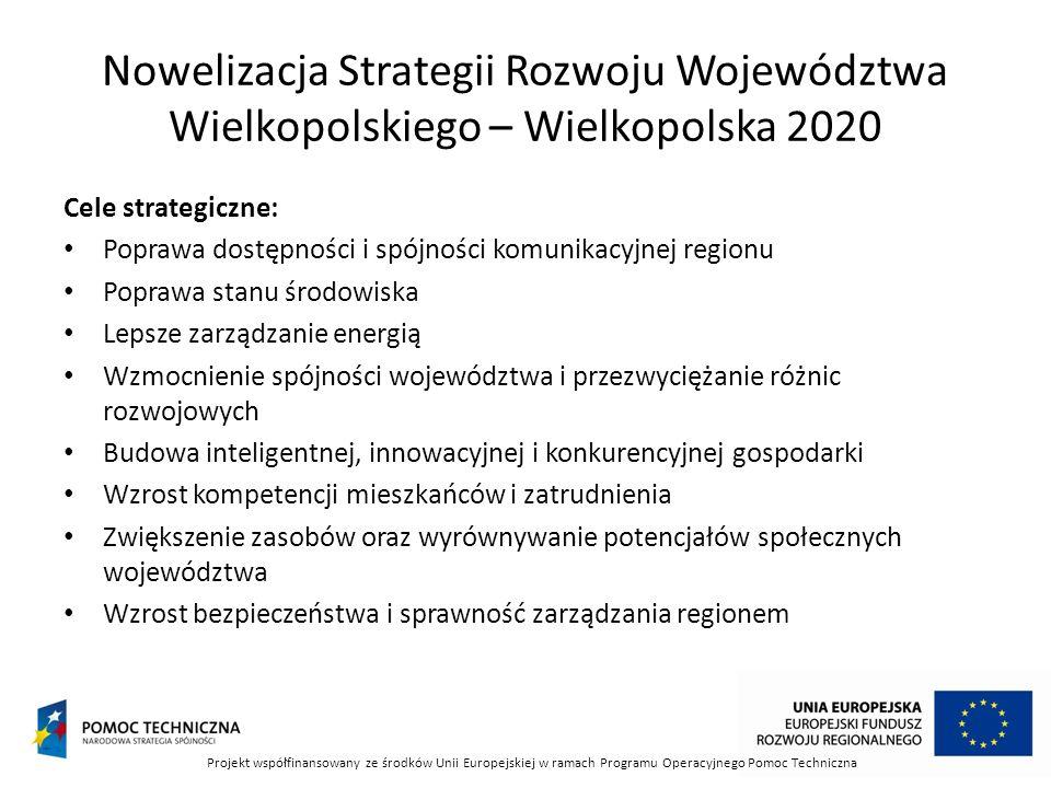 Nowelizacja Strategii Rozwoju Województwa Wielkopolskiego – Wielkopolska 2020