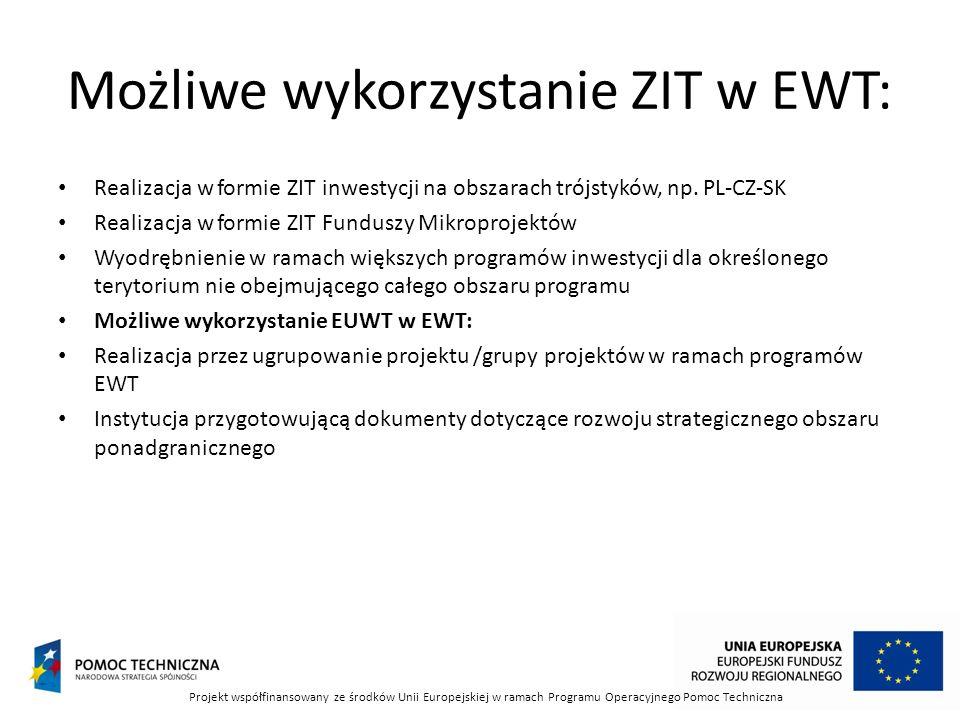 Możliwe wykorzystanie ZIT w EWT: