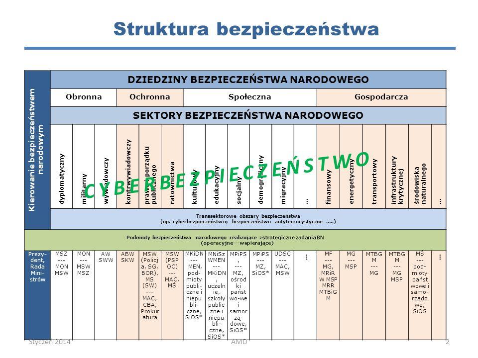 CYBERBEZPIECZEŃSTWO Struktura bezpieczeństwa