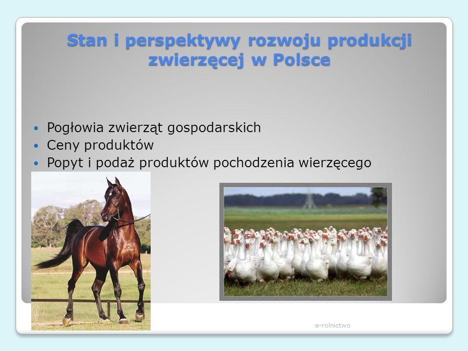Stan i perspektywy rozwoju produkcji zwierzęcej w Polsce