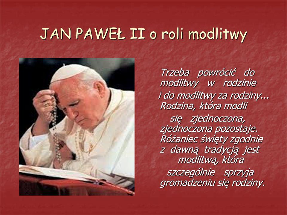 JAN PAWEŁ II o roli modlitwy