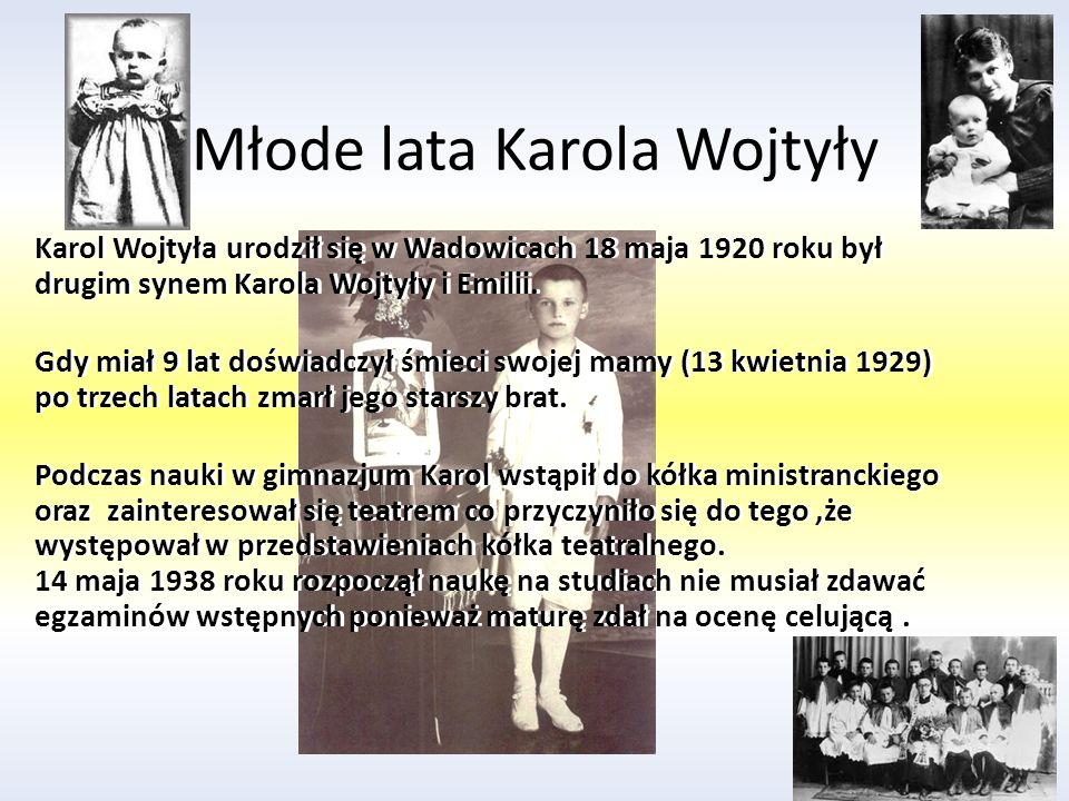 Młode lata Karola Wojtyły
