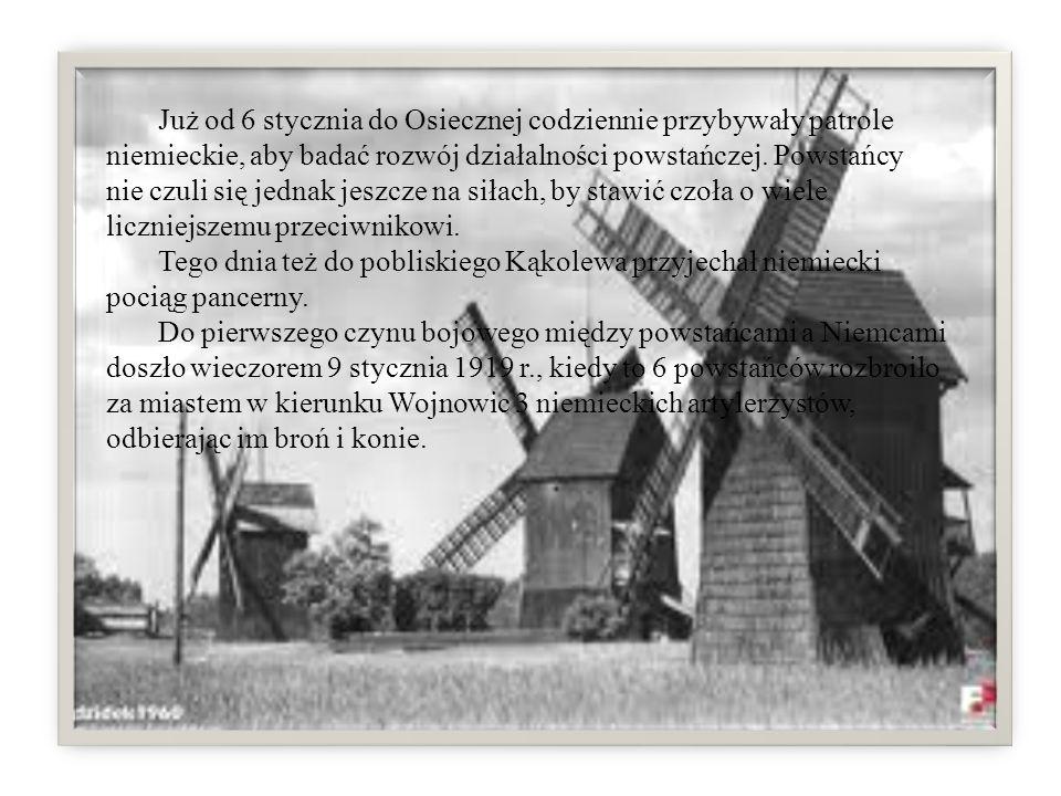 Już od 6 stycznia do Osiecznej codziennie przybywały patrole niemieckie, aby badać rozwój działalności powstańczej. Powstańcy nie czuli się jednak jeszcze na siłach, by stawić czoła o wiele liczniejszemu przeciwnikowi.
