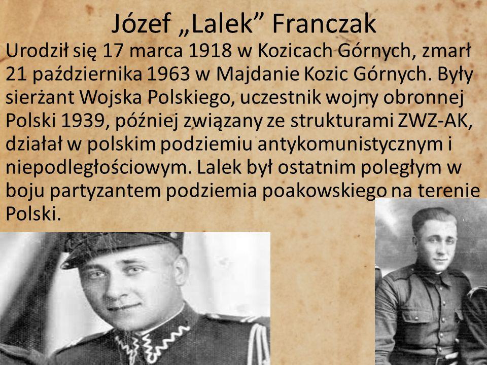 """Józef """"Lalek Franczak"""