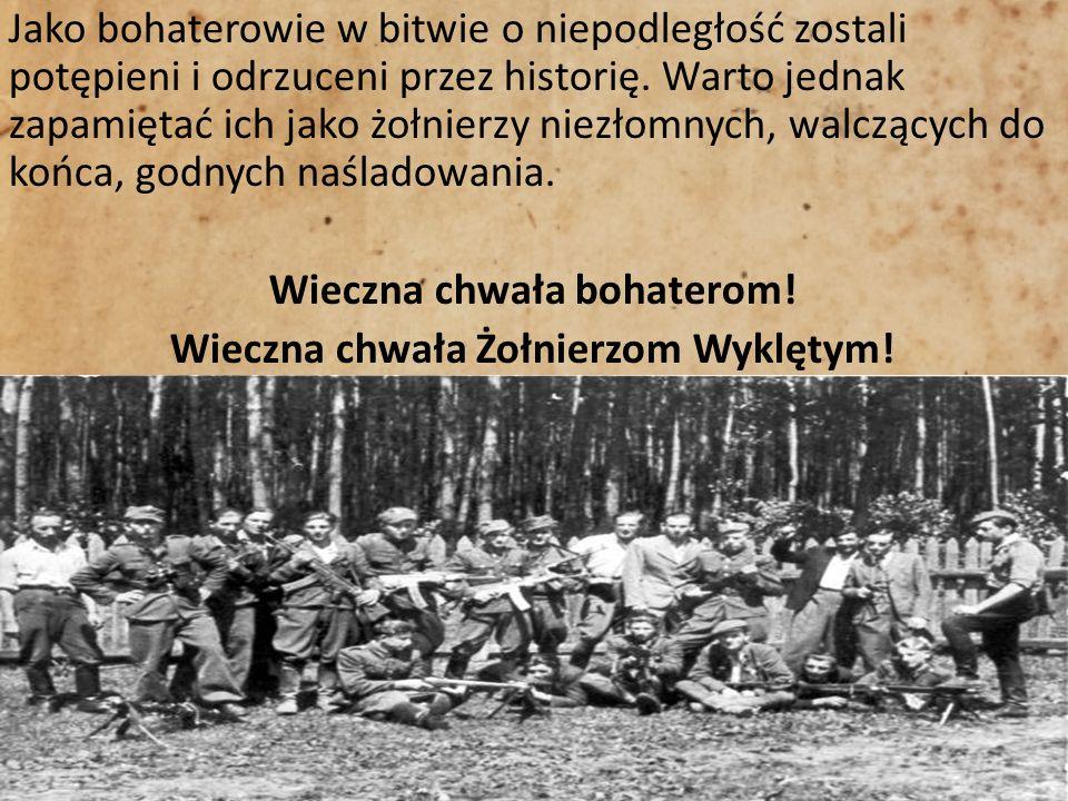 Jako bohaterowie w bitwie o niepodległość zostali potępieni i odrzuceni przez historię.