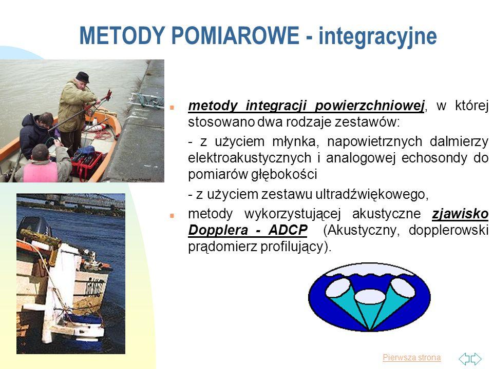METODY POMIAROWE - integracyjne