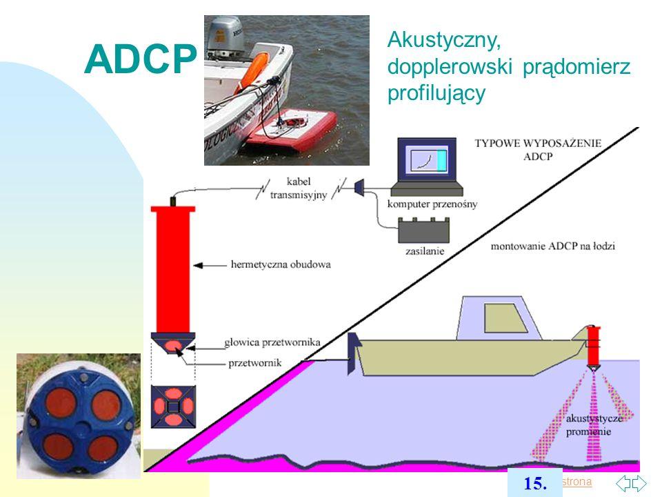 ADCP Akustyczny, dopplerowski prądomierz profilujący 15. 2017-03-30