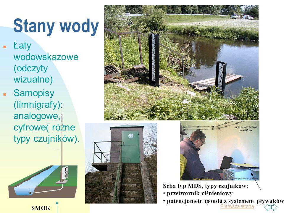 Stany wody Łaty wodowskazowe (odczyty wizualne)