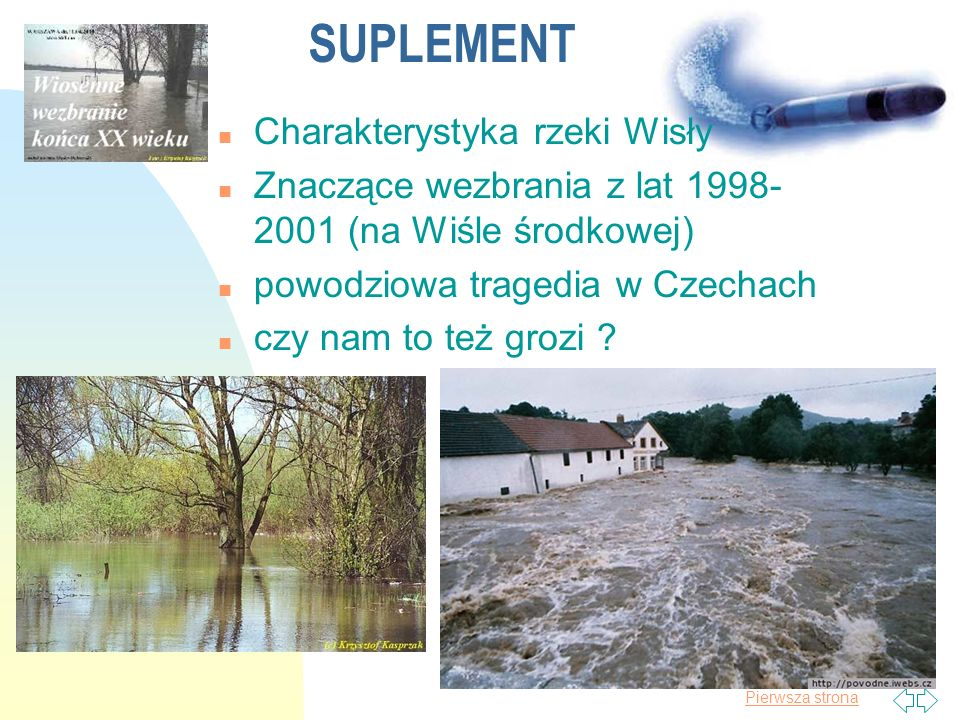 SUPLEMENT Charakterystyka rzeki Wisły