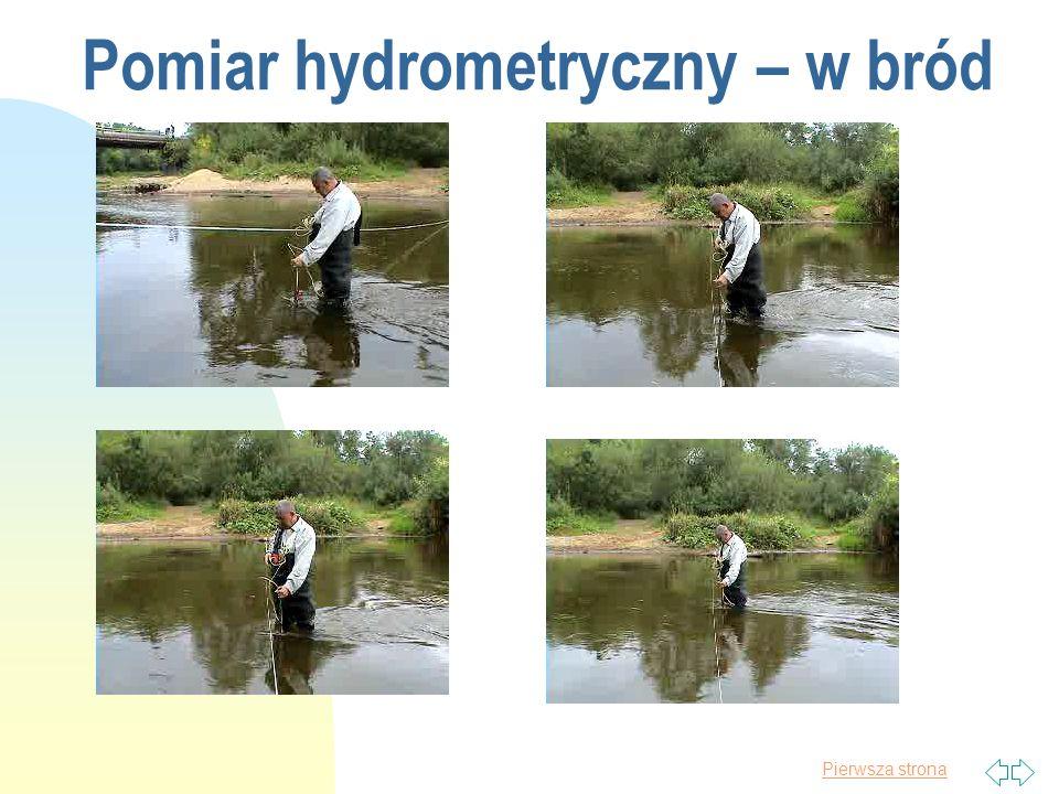 Pomiar hydrometryczny – w bród