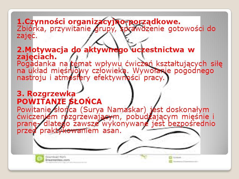 1. Czynności organizacyjno-porządkowe