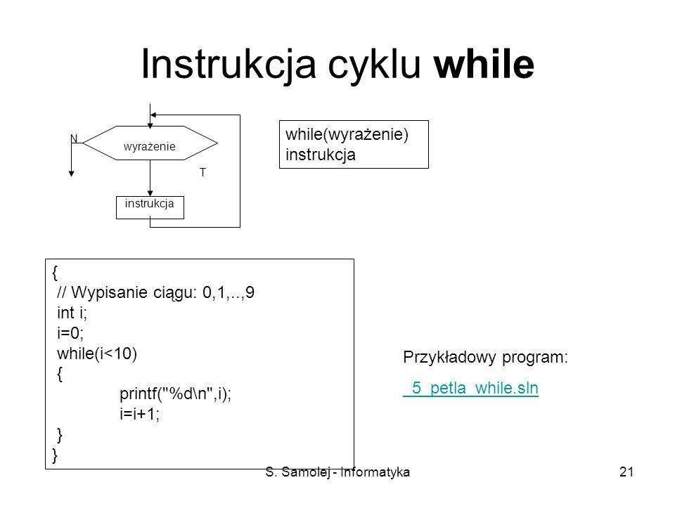 Instrukcja cyklu while