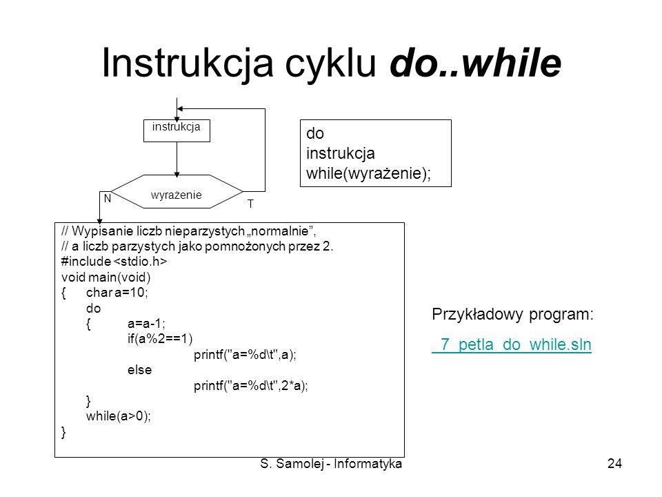 Instrukcja cyklu do..while