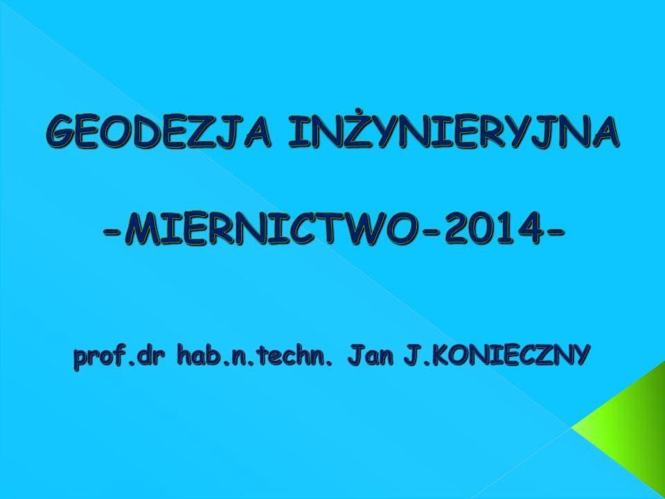 GEODEZJA INŻYNIERYJNA -MIERNICTWO-2014-