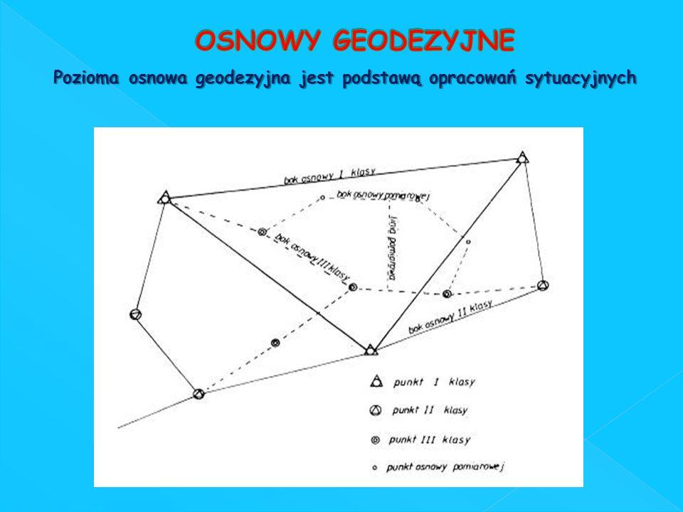 Pozioma osnowa geodezyjna jest podstawą opracowań sytuacyjnych