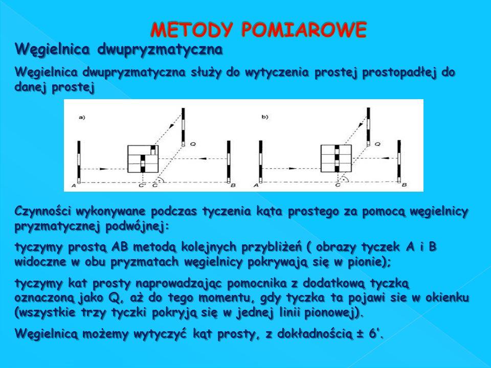 METODY POMIAROWE Węgielnica dwupryzmatyczna