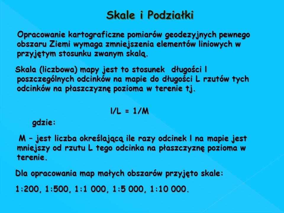 Dla opracowania map małych obszarów przyjęto skale: