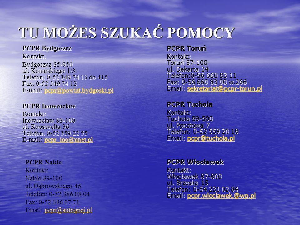 TU MOŻES SZUKAĆ POMOCY PCPR Bydgoszcz Kontakt: