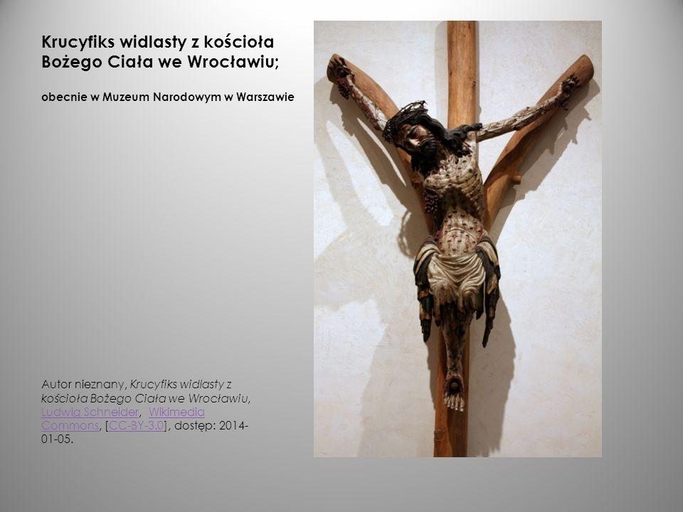 Krucyfiks widlasty z kościoła Bożego Ciała we Wrocławiu; obecnie w Muzeum Narodowym w Warszawie