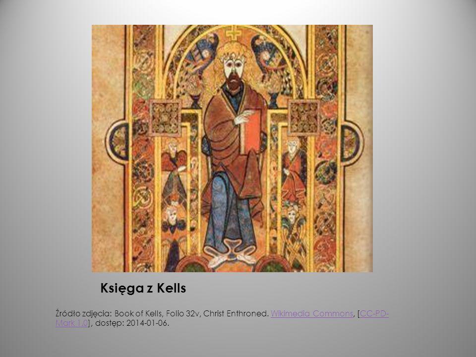 Księga z Kells Źródło zdjęcia: Book of Kells, Folio 32v, Christ Enthroned.