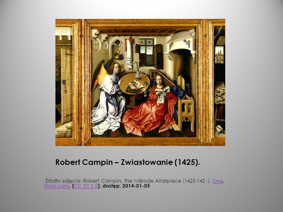 Robert Campin – Zwiastowanie (1425).
