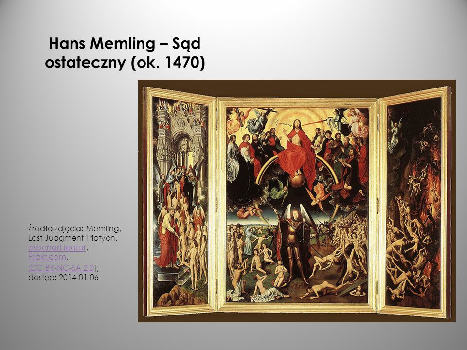 Hans Memling – Sąd ostateczny (ok. 1470)