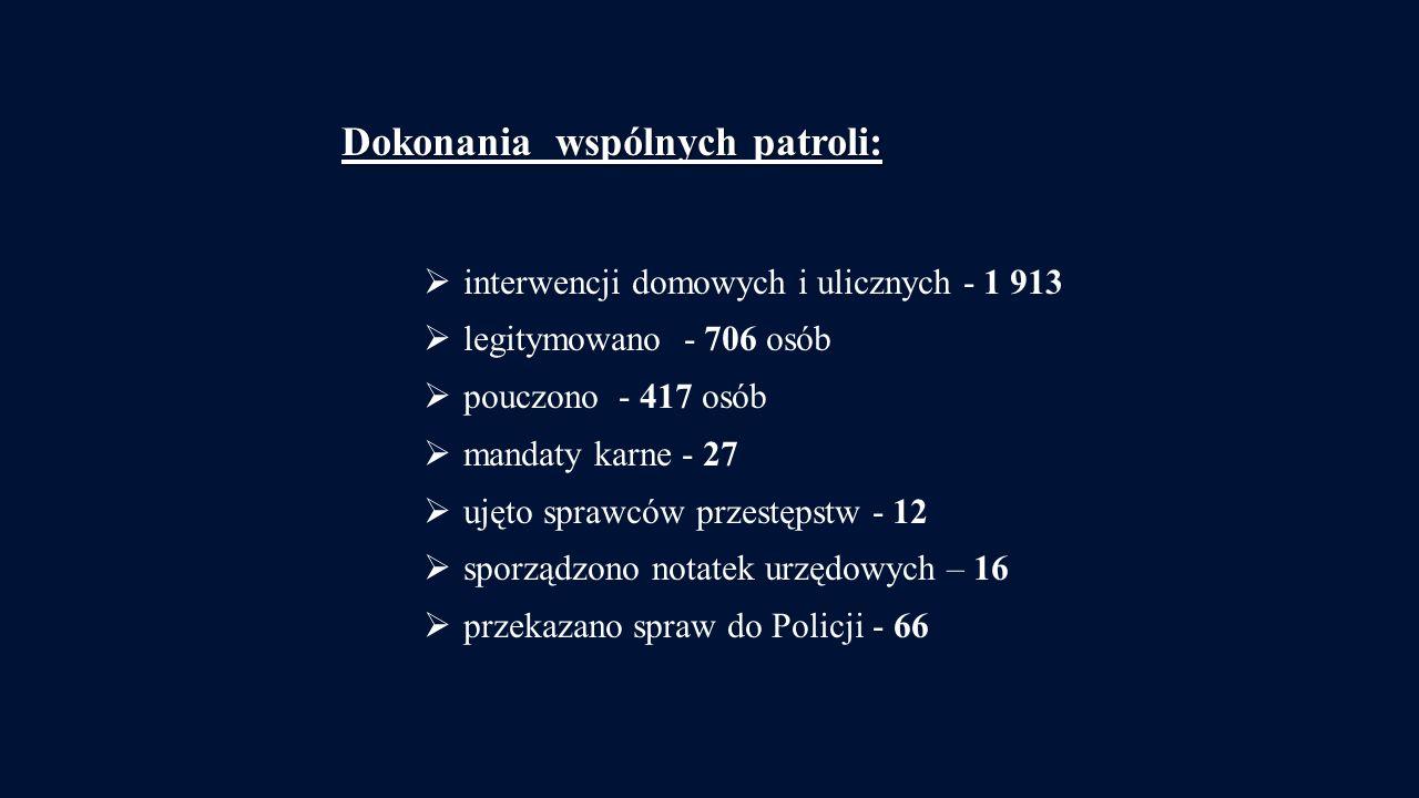 Dokonania wspólnych patroli: